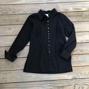 Soft Surroundings Black Button Up